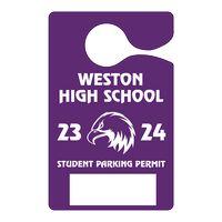 "592863042-183 - Plastic 10 pt. Hanging Parking Permit (3""x4 3/4"") - thumbnail"