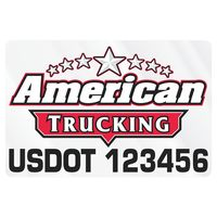 "705932411-183 - Rectangle w/ Rounded Corners Truck Signs & Equipment Decal (16 1/4""x24 1/2"") - thumbnail"