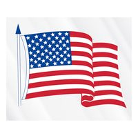 "70778233-183 - Clear Static Cling U.S. Flag Static Face Decal (3 1/2""x4 1/4"") - thumbnail"