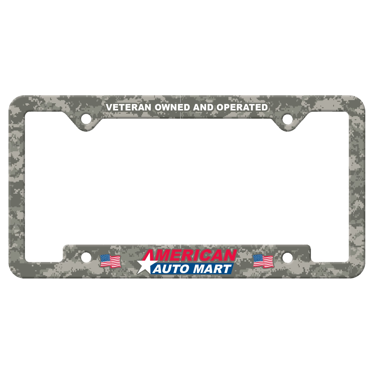 735529299-183 - Auto License Frame Full Color w/ 4 Holes & Large Bottom Jutted Panel - thumbnail
