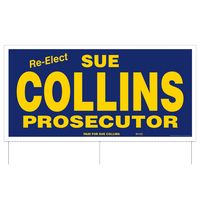 """751957418-183 - Full Color Corrugated Plastic Sign w/ 3 Rods (24""""x48"""") - thumbnail"""
