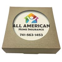 755048396-183 - Set of 4 Square Absorbent Stone Coasters w/ Natural Kraft Box - thumbnail