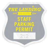 """755932461-183 - Shield Clear Static Numbered Inside Parking Permit Decal (2 3/4""""x2 3/4"""") - thumbnail"""