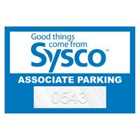 """755932466-183 - Horizontal Rectangle Clear Polyester Numbered Inside Parking Permit Decal (2""""x3"""") - thumbnail"""