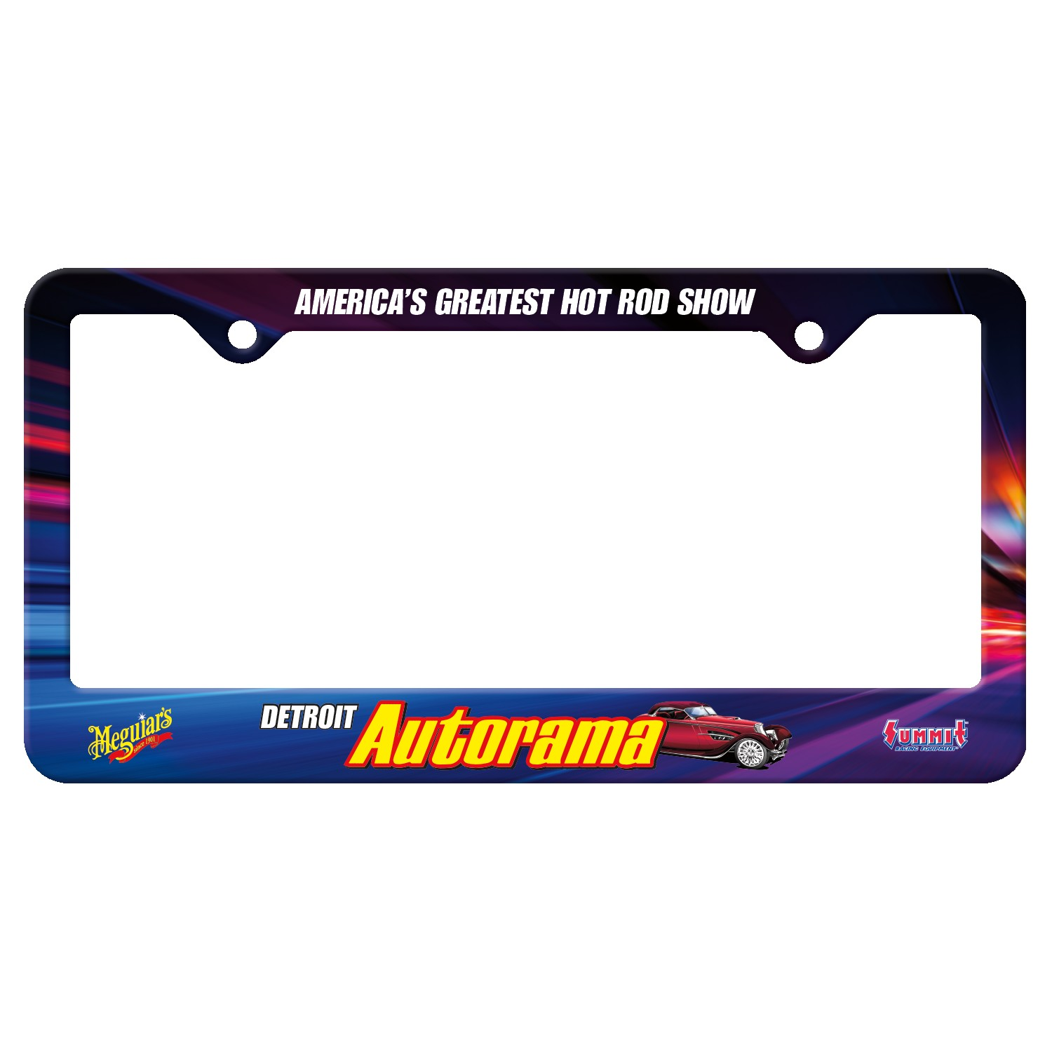 765529303-183 - Auto License Frame Full Color w/ 2 Holes & Large Bottom Straight Panel - thumbnail