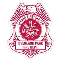 772536503-183 - Firefighter Shield Paper Lapel Sticker On Roll - thumbnail