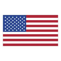 "77778232-183 - White Vinyl U.S. Flag Removable Adhesive Decal (2 1/4""x4"") - thumbnail"