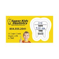 "916182161-183 - Full Color Appointment Reminder Card with Tooth Peel Off (2"" x 3 1/2"") - thumbnail"