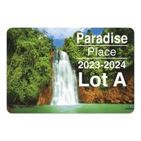 """985489553-183 - Rectangle White Vinyl Full Color Outside Parking Permit Decal (2""""x3 1/2"""") - thumbnail"""