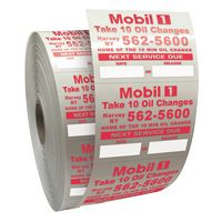 "985543304-183 - Roll of Clear Static Cling Decals for Car Windshield (2""x2 1/2"") - thumbnail"