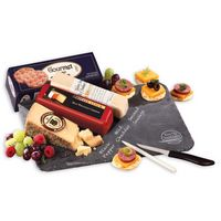 115139497-117 - Genuine Slate Serving Plate with Wisconsin Cheese & Sausage - thumbnail