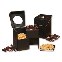 165449213-117 - Faux Leather Desktop Storage Box with Virginia Peanuts and Chocolate Raisins - thumbnail
