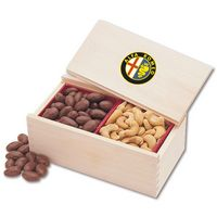 185163147-117 - Milk Chocolate Covered Almonds & Jumbo Cashews in Wooden Collector's Box (4 Color Process) - thumbnail