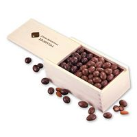 355702983-117 - Milk & Dark Chocolate Covered Almonds in Wooden Collector's Box - thumbnail