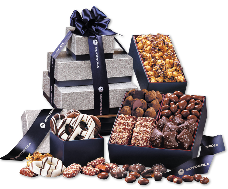 504828267-117 - Silver & Navy Tower of Sweets - thumbnail