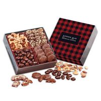556062157-117 - Gourmet Holiday Gift Box with Plaid Sleeve - thumbnail