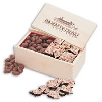 586072062-117 - Peppermint Bark & Chocolate Almonds in Wooden Collector's Box - thumbnail