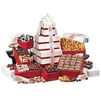 """586145020-117 - 3 Day Express Service! """"Park Avenue"""" Tower of Chocolate in Red - thumbnail"""