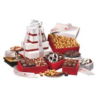 """595703857-117 - """"Park Avenue"""" Tower of Chocolate in Red - thumbnail"""