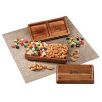 726312214-117 - Acacia Tray with Jelly Belly® Jelly Beans & Cashews - thumbnail