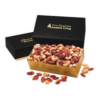 756071664-117 - Deluxe Mixed Nuts in Black & Gold Gift Box - thumbnail