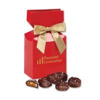 916076533-117 - Sea Salt Almond Turtles in Red Premium Delights Gift Box - thumbnail