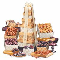 955697948-117 - Golden Delights Tower with Ivory Ribbon - thumbnail