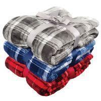 155778621-814 - Flannel Plush Pattern Blanket - thumbnail