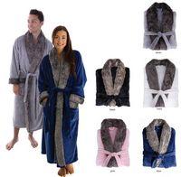 165483576-814 - Plush Robe w/Fur - thumbnail