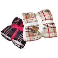 333901232-814 - Lambswool Microsherpa Plaid Throw - thumbnail