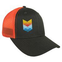 546089714-814 - Twill Trucker Cap With Mesh - thumbnail