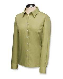 134494150-106 - Women's Plus Cutter & Buck® Epic Easy Care Fine Fine Twill Dress Shirt - thumbnail
