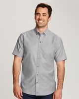 365706611-106 - Men's Cutter & Buck® Epic Easy Care S/S Stretch Oxford Shirt (Big & Tall) - thumbnail