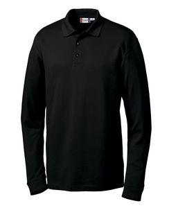 393186388-106 - Men's Clique® Long Sleeve Evans Easy Care Polo Shirt - thumbnail
