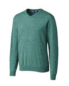 524494087-106 - Men's Cutter & Buck® Douglas V-Neck Sweater - thumbnail