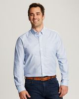 565706619-106 - Men's Cutter & Buck® Epic Easy Care Stretch Oxford Stripe Shirt (Big & Tall) - thumbnail