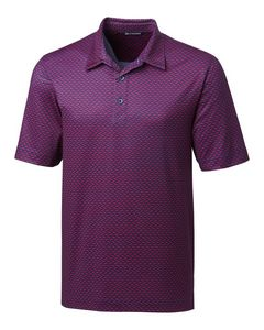 566144996-106 - Pike Polo Herringbone Print - thumbnail