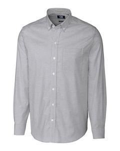 596288650-106 - Stretch Oxford Stripe Shirt Big & Tall - thumbnail