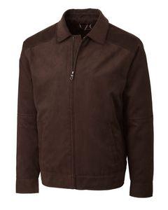 734494159-106 - Men's Cutter & Buck® Micro-Suede Roosevelt Jacket (Big & Tall) - thumbnail