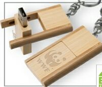 723299155-142 - Kayu Wood USB Flash Drive w/ Keychain (2 GB) - thumbnail