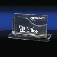 903686802-142 - Wave Shaped Business Card Holder - thumbnail