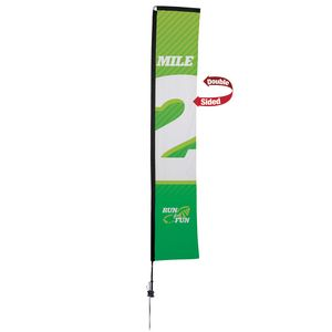 363728295-108 - 14.5' Premium Rectangle Sail Sign, 2-Sided, Ground Spike - thumbnail