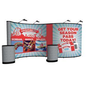 394022036-108 - 20' Serpentine Show 'N Rise Floor Kit (Mural w/ Fabric Ends) - thumbnail