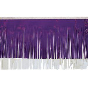 "396197676-108 - Victory Corps Standard Purple & White Fringe (15"") - thumbnail"
