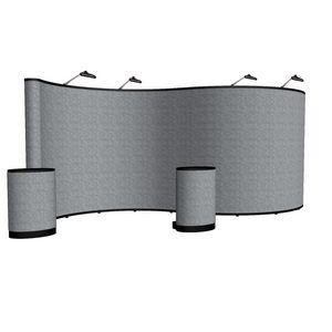 564022024-108 - 20' Serpentine Show 'N Rise Floor Display Kit (Fabric) - thumbnail