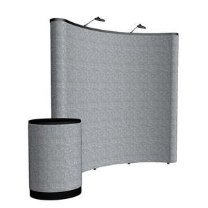 593148464-108 - 8' Curved ARISE Floor Display Kit (Fabric) - thumbnail