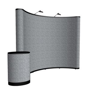 764022022-108 - 10' Curved Show 'N Rise Floor Display Kit (Fabric) - thumbnail