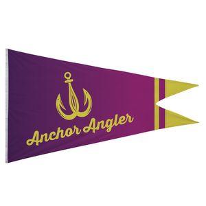 766058166-108 - Nylon Burgee Flag (Single-Sided) - 6' x 10' - thumbnail