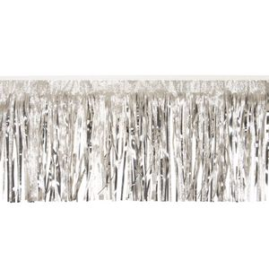 """966197769-108 - Victory Corps Embossed Silver and Metallic Silver Fringe (15"""") - thumbnail"""