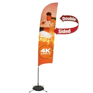 995009660-108 - 13' Streamline Razor Sail Sign, 2-Sided, Scissor Base - thumbnail